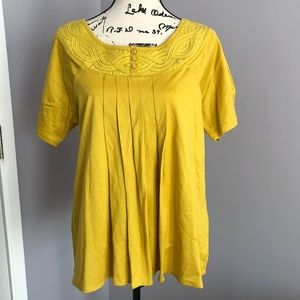 Mustard/Gold Embellished Shirt by 'Deletta'-BNWOT